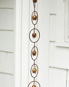 Flamed-Circle-Or-Bell-Rain-Chain-Steel-w-Copper-Finish-8-x-4-Gutter-Clip