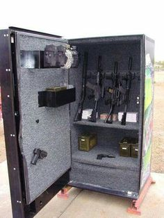 Old vending machine gun safe.
