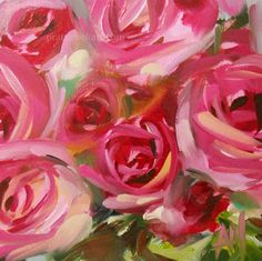 Pink Roses no. 27. Brushstrokes