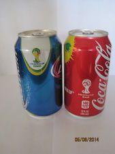 BUD LIGHT & COCA COLA FIFA WORLD CUP BRASIL    2014 CAN ***EMPTY***  BOTTOM OPEN