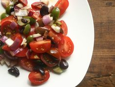 If bruschetta and olive tapenade ran into each other, you'd get this: tomato and olive salad with onion and balsamic. Soooo good. Phase 3 of the #FastMetabolismDiet