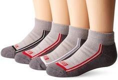 Amazon.com: PEDS Little Boys' Endur Quarter Socks Mesh Air Vent Grey with… #peds #gildan #pedsboys