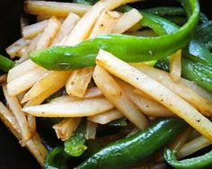 Stir-Fried Potato and Green Pepper #Chinese_recipe #vegan