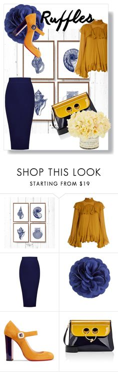 """""""Navy marigold"""" by marigold89 ❤ liked on Polyvore featuring Chloé, hook + Albert, Christian Louboutin and J.W. Anderson"""