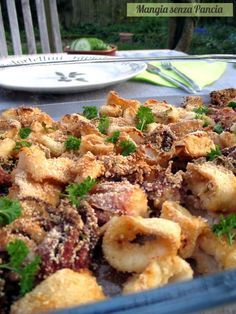 Light baked baked squid, Eat without a Belly Fish Dishes, Seafood Dishes, Fish And Seafood, Seafood Recipes, Cooking Recipes, Healthy Recipes, Cena Light, Calamari Recipes, Light Recipes