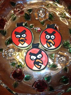 Red Angry Bird Cookies