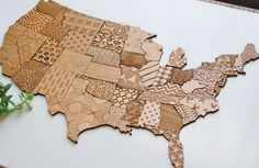 USA Textured Alder Wood Magnet Map - 50 States. Enjoy seasonal decor with this Alder Wood, precision-cut magnet map of the USA. Each state is an individual magnet and texture for functional and beautiful decor.