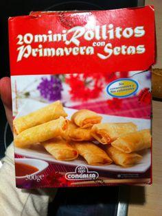 20 mini rollitos primavera con setas Paquete (300 grs), 13 pp Media ración (150 grs), 6pp