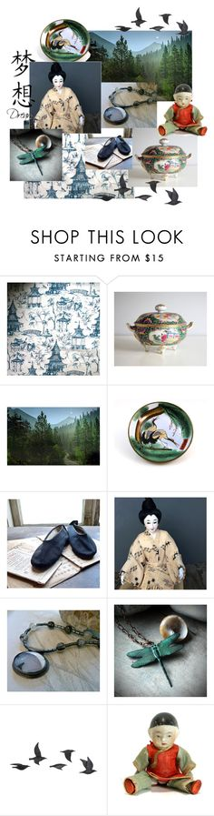 Chinese dreams by calloohcallay-vintage on Polyvore featuring interior, interiors, interior design, home, home decor, interior decorating, Jayson Home and vintage