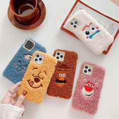 Cartoon Disney Plush embroidery soft case Cover for iPhone 11 Pro Max XS XR 7 8 - White Iphone Case - Ideas of White Iphone Case