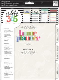 Home Planner - The home planner pack is a stylish, organizational tool and can be easily added to your Happy Planner™. Each package contains 45 sheets and includes 4 tabbed dividers with: To Do Lists Meal Planners House Cleaning Schedules Budgets