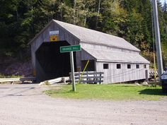 Covered bridge just north of St. Martins, New Brunswick, Canada.