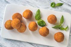 Buy Arancini by on PhotoDune. Arancini on the white plate Italian Rice, Arancini, Rice Balls, Muffin, Appetizers, Peach, Fruit, Breakfast, Noodles