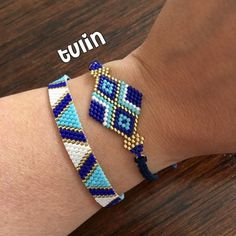 Bence birlikte ok gzel - Bead Loom Bracelets, Beaded Bracelet Patterns, Bead Loom Patterns, Beading Patterns, Bracelet Designs, Macrame Bracelets, Bead Jewellery, Seed Bead Jewelry, Bijoux Diy