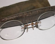 Vintage Well Used Ladies Edwardian Pinze Nez Spectacles - Edit Listing - Etsy