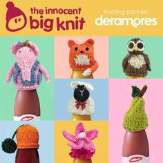 For the second year Deramores is official knitting partner for the Innocent Big Tea Cosy Knitting Pattern, Knitting Paterns, Loom Knitting, Knitting Projects, Knitting Ideas, Knit Patterns, Simply Knitting, Knitting For Charity, Knit Or Crochet