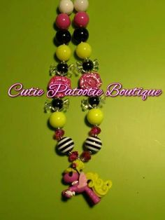 Pink La La Loopsy Pony Necklace by CuTiEpAtOoTieBsHoP on Etsy, $12.00