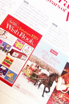 Sears Wish Book ! OMG - I am that old I remember this! Get it for the kids this year....