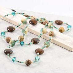 Your place to buy and sell all things handmade Beaded Lanyards, Eyeglass Holder, Gifts For Boss, Blue Zircon, Office Fashion, Jewelry Crafts, Chains, Eyeglasses, Swarovski Crystals