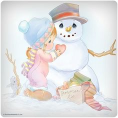 Precious Moments ~ Frosty The Snowman