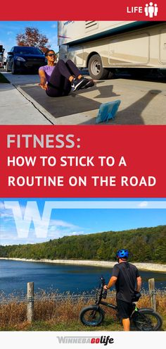 Sticking to a Fitness Routine on the Road You Fitness, Fitness Goals, Road Trip Adventure, Rv Parks, Rv Travel, Rv Life, Rv Living, Routine, Creativity