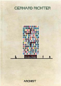 Gerhard Richter in architectural form. Illustrator Federico Babina's Archist imagines artists as architecture, studying the influence contemporary art has on modern design. More from the series at our site.