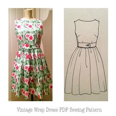 Hey, I found this really awesome Etsy listing at https://www.etsy.com/listing/225912238/womens-vintage-wrap-dress-pdf-sewing