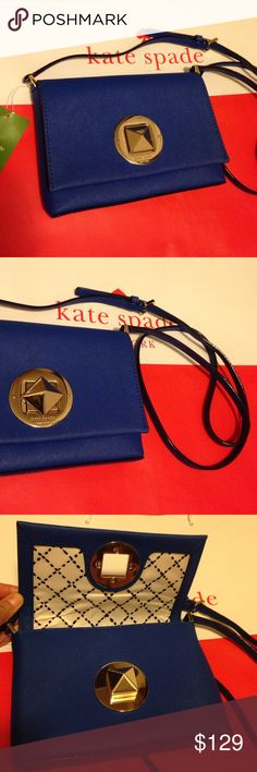 NWT Kate Spade Sally Newbury Lane bag, orbitblue. On the go crossbody bag, chic and adorable to any outfit. Perfect for dress without pockets. kate spade Bags Crossbody Bags
