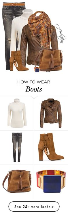 """""""Blanket Scarf and Boots"""" by jewhite76 on Polyvore featuring R13, VILA, Black Rivet, Aquazzura, MICHAEL Michael Kors, Marni, Marc by Marc Jacobs, women's clothing, women's fashion and women"""