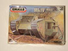 WWI TANK Scale 1:72 MODEL KIT MkIV MALE