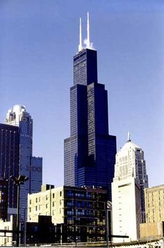 Sears Tower, Chicago, Illinois. Located in downtown Chicago, it's the tallest building in the United States of America.