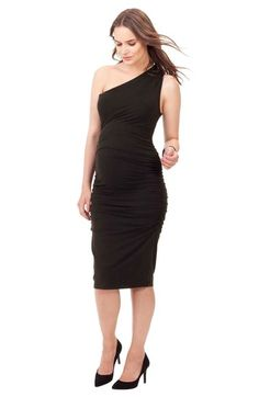 49a5c3e63d8 Isabella Oliver  Burlington  Ruched One-Shoulder Maternity Dress available  at  Nordstrom Pregnant