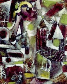 Paul Klee,Sumpflegende,1919. Oil on board.