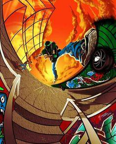 Photoshop, Spiderman, Superhero, Sunset, Fictional Characters, Art, The Creation, Art Production, Spider Man
