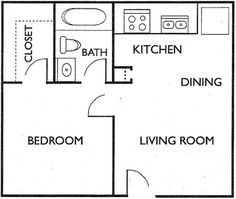 Simple One Bedroom House Plans Best Of Pin by Lois Pontillo On Tiny House Blueprints The Plan, How To Plan, Two Bedroom Tiny House, One Bedroom, Bedroom Simple, Small House Plans, House Floor Plans, Plane 2, Tyni House