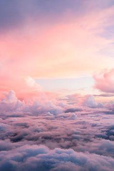Love life~ beautiful sky, beautiful scenery, beautiful world, beautiful places, pink Beautiful Sky, Beautiful World, Beautiful Places, Beautiful Scenery, Pretty Sky, Cute Wallpapers, Wallpaper Backgrounds, Pink Clouds Wallpaper, Iphone Wallpaper