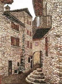 Pebble mosaic, Çakıl taşı Pebble art Pebblemosaic Taş sokak - Salvabrani Pebble Mosaic, Pebble Art, Mosaic Art, Mosaic Garden, Stone Crafts, Rock Crafts, Pebble Stone, Stone Art, Pebble Painting