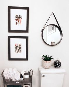 Always fun to see when people use our free downloadable prints! Love our botanicals that Melissa of @theinspiredroom framed in her new year bathroom refresh recently! Such a pretty space! The free downloadables can be found at http://www.poppytalk.com/2013/05/free-download-botanical-prints.html #freedownload #art #free #freeartprints #botanicals
