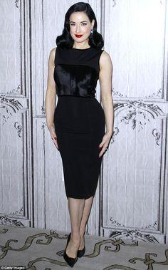 Dita Von Teese slams the Kardashians for promoting waist training on Instagram | Daily Mail Online