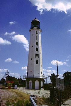Linoma Beach Lighthouse, Sarpy Couny, Nebraska - The only GENUINE lighthouse in Nebraska, and one of only seven inland lighthouses in the USA.