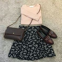 flower pattern skirt