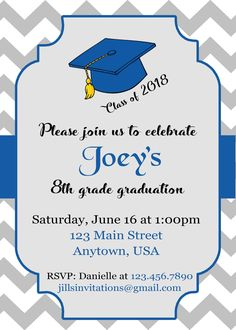8th Grade Graduation Invitations