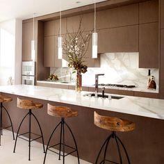 wit marmeren keukenblad met stalen onderkant - Google zoeken