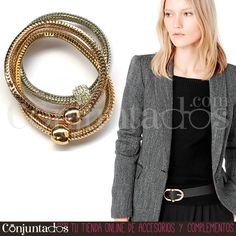 Te traemos un precioso #accesorio tres en uno para que no te lo quites nunca: la #pulsera tricolor moldeable son tres vistosas piezas que pueden usarse juntas o separadas. Un #complemento que no puede faltar adornando tus modelitos ★ Precio: 11,95 € en http://www.conjuntados.com/es/pulsera-tricolor-moldeable.html ★ #novedades #bracelet #jewelry #bisutería #bijoux #moda #fashion #estilo #style #GustosParaTodas #ParaTodosLosGustos