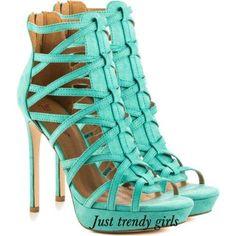 mint heeled sandals , Summer high heels sandals http://www.justtrendygirls.com/summer-high-heels-sandals/