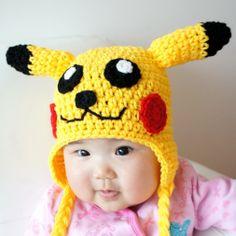 Pikachu Hat Pokemon Crochet Baby Hat Baby Hat by stylishbabyhats Crochet Winter Hats, Crochet Kids Hats, Crochet Beanie Hat, Crochet For Boys, Cute Crochet, Hand Crochet, Pikachu Hat, Pokemon Hat, Pikachu Crochet