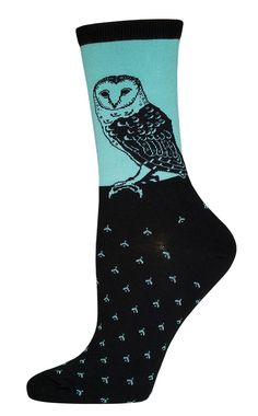 The Joy of Socks - Barn Owl Socks (Women's), $7.50 (http://www.joyofsocks.com/barn-owl-socks-womens/)