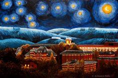 starry night-- WSU edition :)