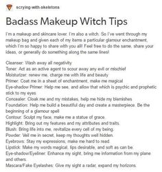 Makeup Witch Tips. Positive affirmations simply put to fill our heads with good … Makeup Witch Tips. Positive affirmations simply put to fill our heads with good …,MAGICK Makeup Witch Tips. Wiccan Witch, Magick Spells, Witch Spell Book, Spell Books, Grimoire Book, Witchcraft For Beginners, Eclectic Witch, Witch Broom, Baby Witch