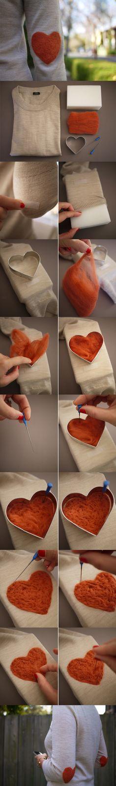 Filcowy nałokietnik, Heart Elbow Patch